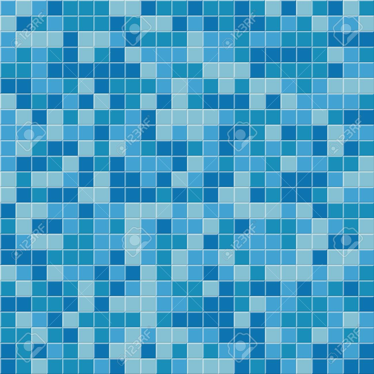 pool tile seamless pattern vector blue mosaic tiles background