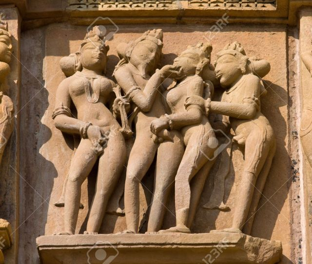 Stock Photo Temples Of Khajuraho One Of The Most Popular Tourist Destinations In India And Famous For Their Erotic Sculptures
