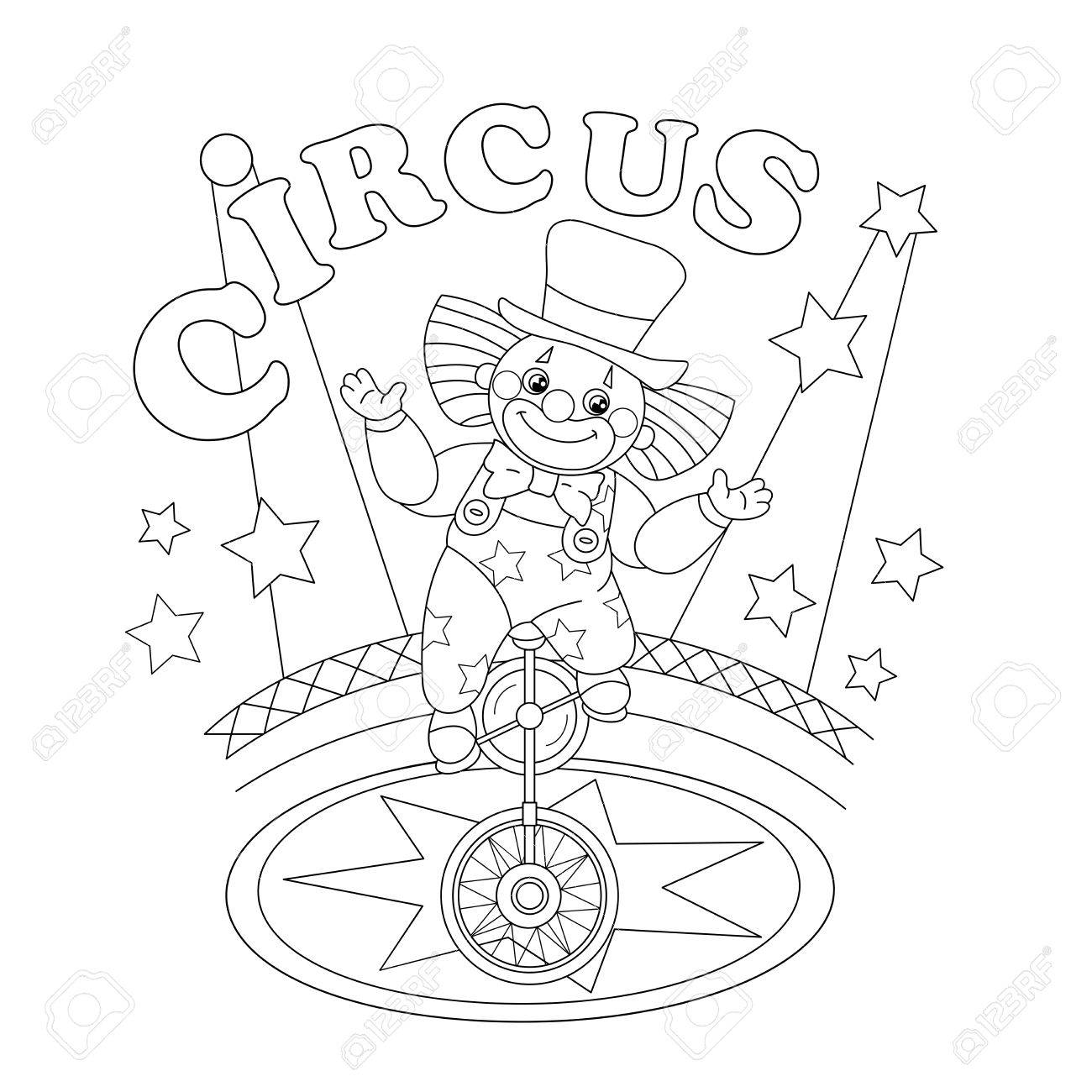 Coloring Page Outline Of A Funny Clown Coloring Book For Kids Royalty Free Cliparts Vectors And Stock Illustration Image 58327947