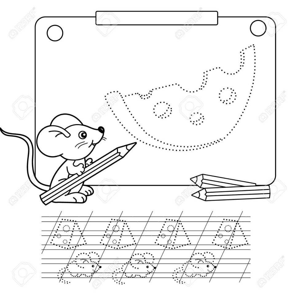 ドット絵とぬりえのページに接続します。ワークシートをトレースします