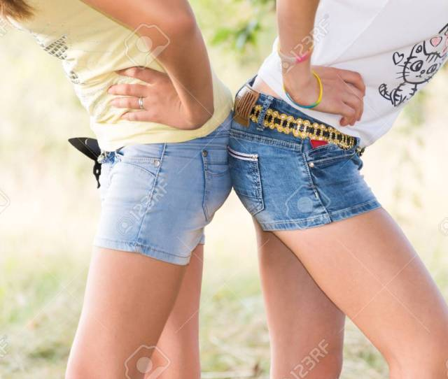 Stock Photo Teen Girls In A Shorts Legs And Pop