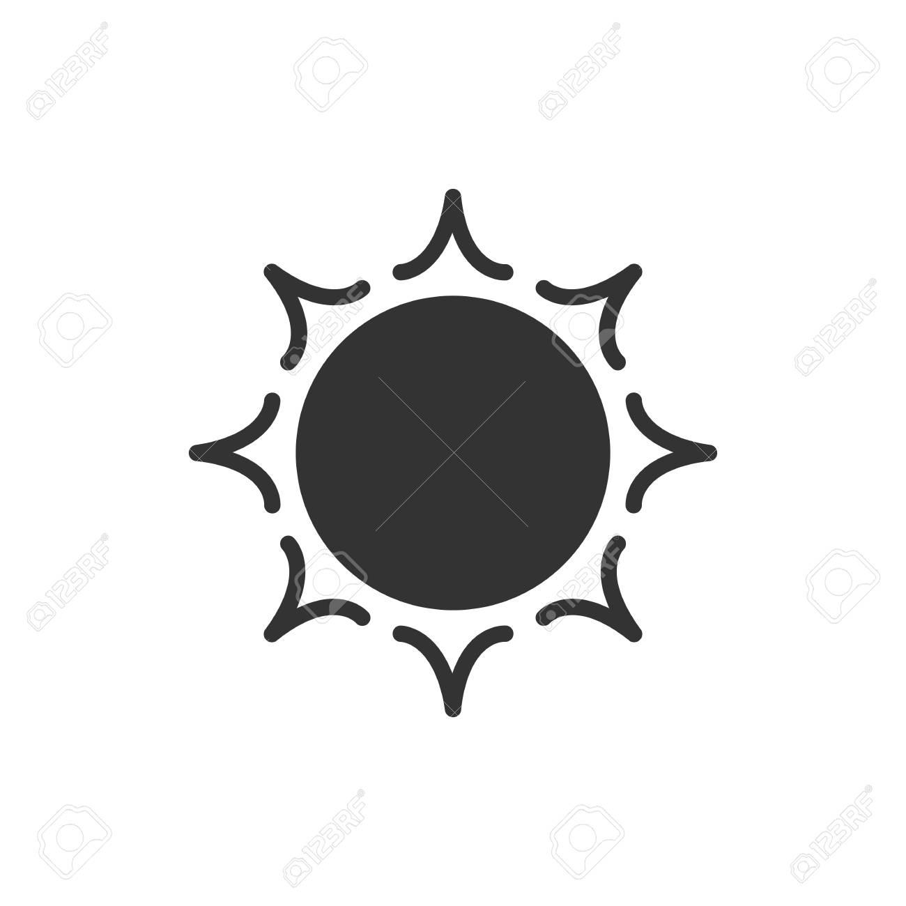 soleil style logo noir isole sur fond blanc