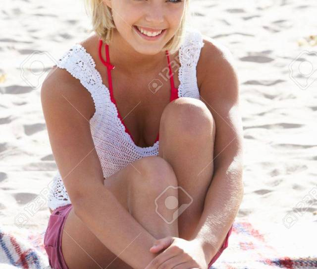 Portrait Teenage Girl On Beach Stock Photo 11246647