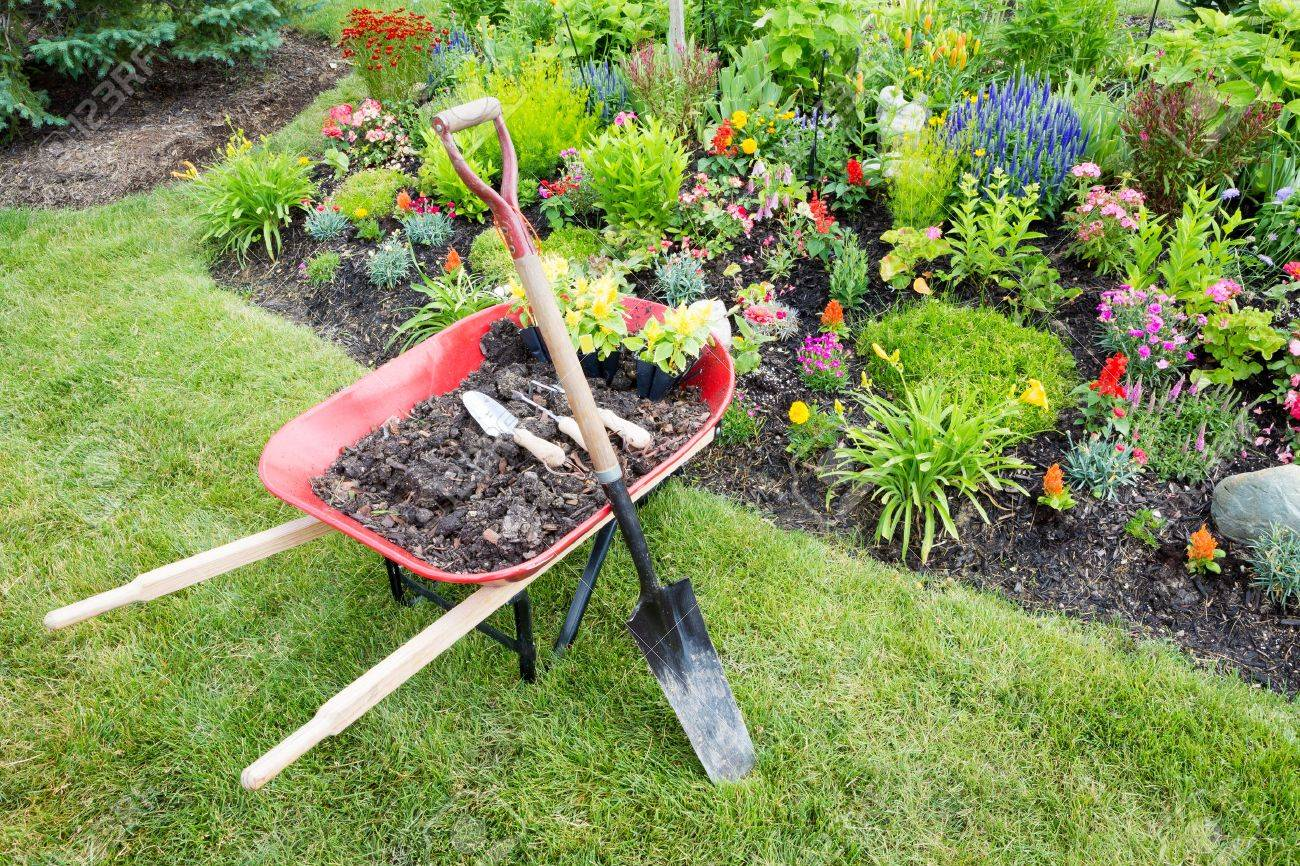 https://i1.wp.com/previews.123rf.com/images/oocoskun/oocoskun1406/oocoskun140600050/29237226-Garden-work-being-done-landscaping-a-flowerbed-with-a-red-wheelbarrow-full-of-organic-potting-soil-a-Stock-Photo.jpg