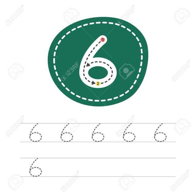 Learning To Write A Number - 13. A Practical Sheet From A Set Of