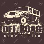 Off Road Competition Emblem Vector Illustration 4x4 Car In Mud Royalty Free Cliparts Vetores E Ilustracoes Stock Image 62618918