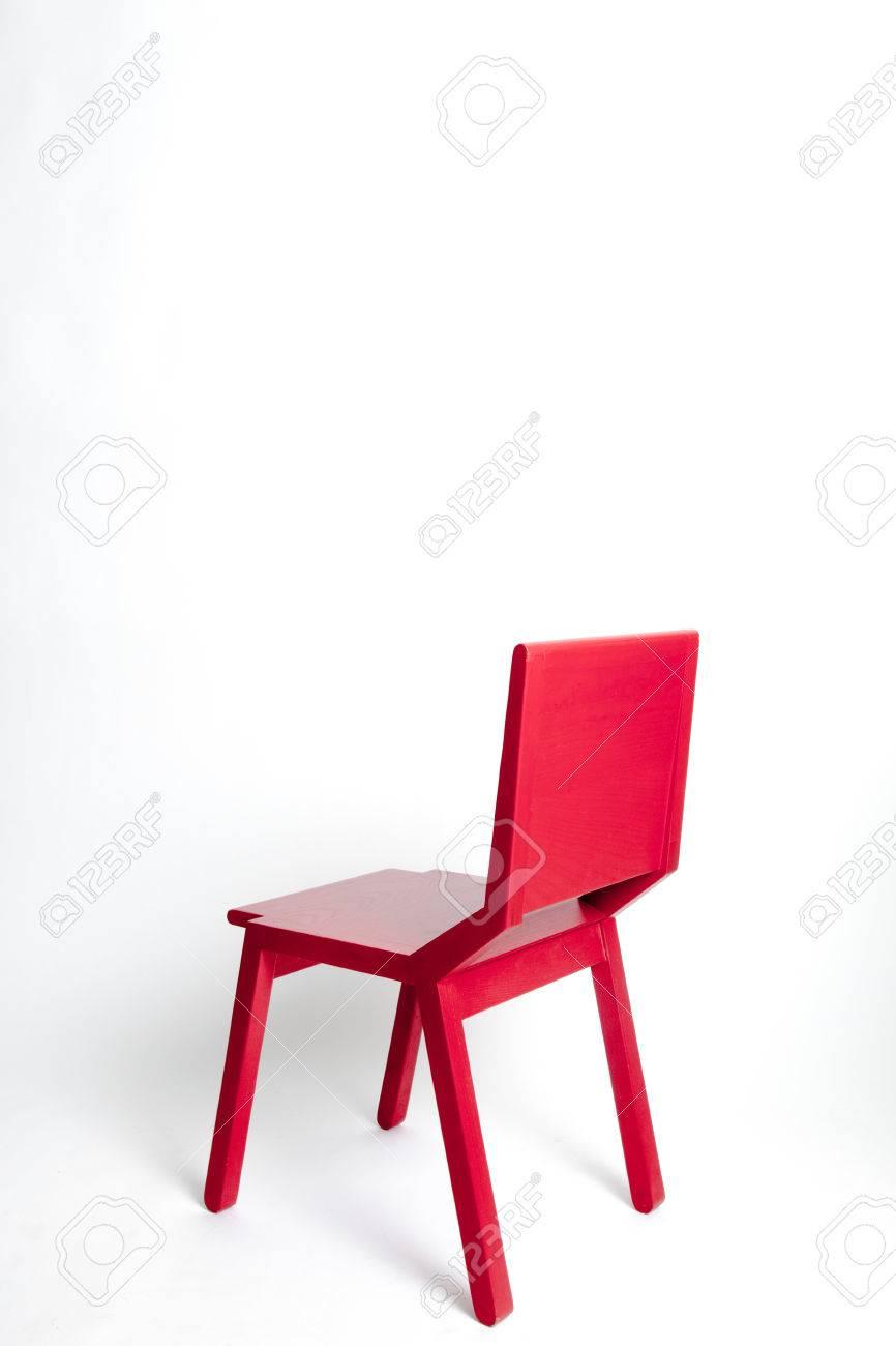 banque d images chaise moderne rouge simple dans un fond blanc isole