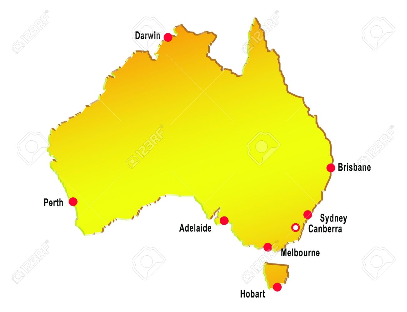 Map Of Australia With Major Cities Stock Photo  Picture And Royalty     map of australia with major cities Stock Photo   6195772