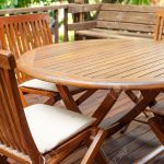 Teak Wood Furniture Stand On The Terrace Stock Photo Picture And Royalty Free Image Image 28487239