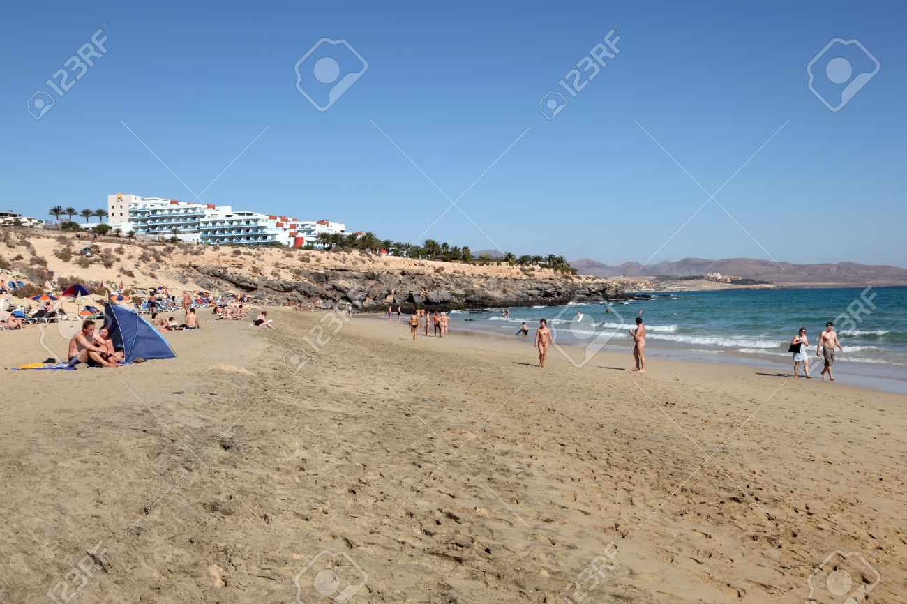 Nudist Beach On Canary Island Fuerteventura Spain Photo Taken At 21st Of December 2011