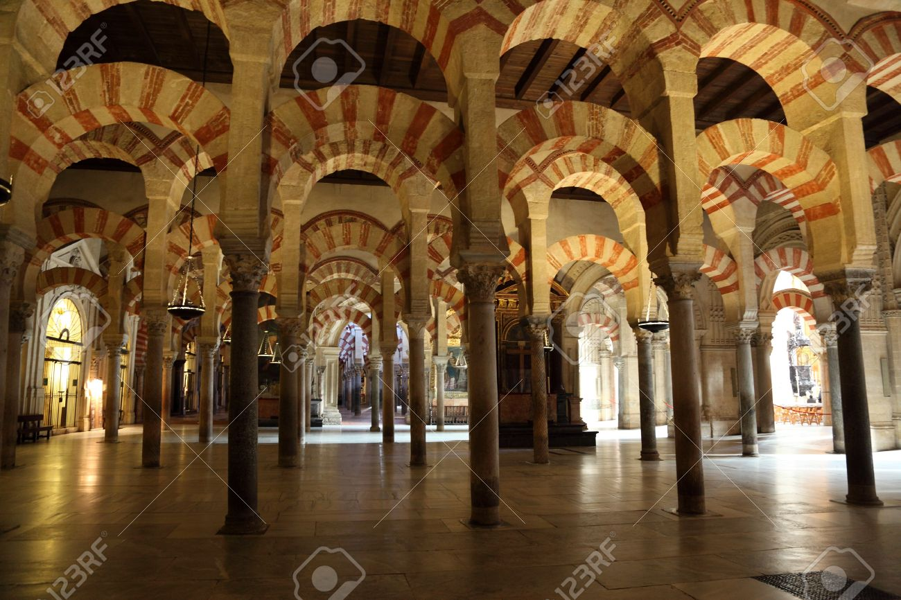 Interior Of The Medieval Mosque Cathedral In Cordoba  Andalusia     Interior of the medieval Mosque Cathedral in Cordoba  Andalusia Spain Stock  Photo   17025021