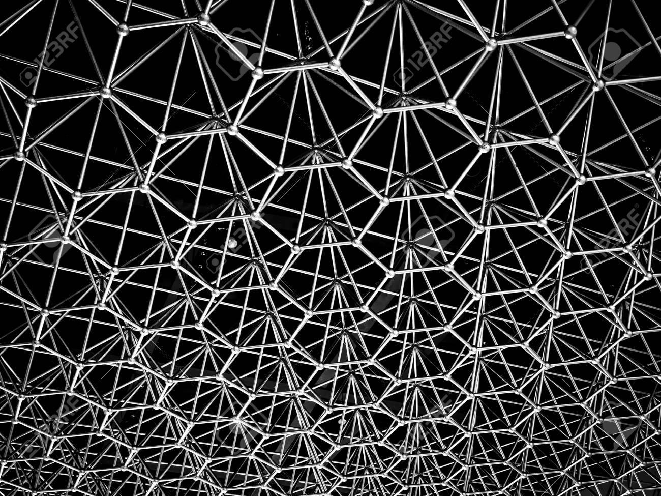 structure metallique avec un fond d ecran metallique