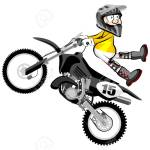 Motocross Rider Isolated Over White Backgrorund Cartoon Style Royalty Free Cliparts Vectors And Stock Illustration Image 77835314