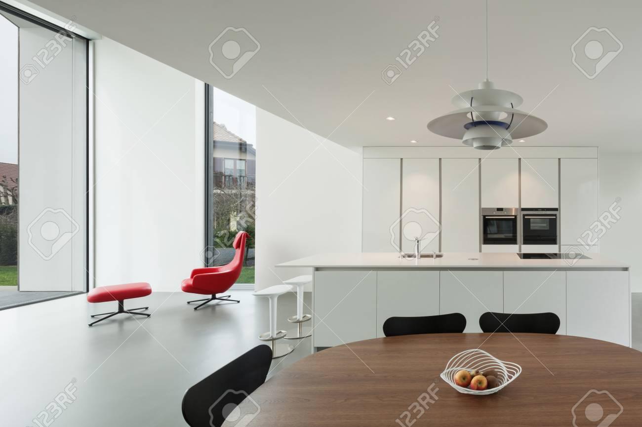 banque d images interieur d une belle maison moderne grande cuisine domestique