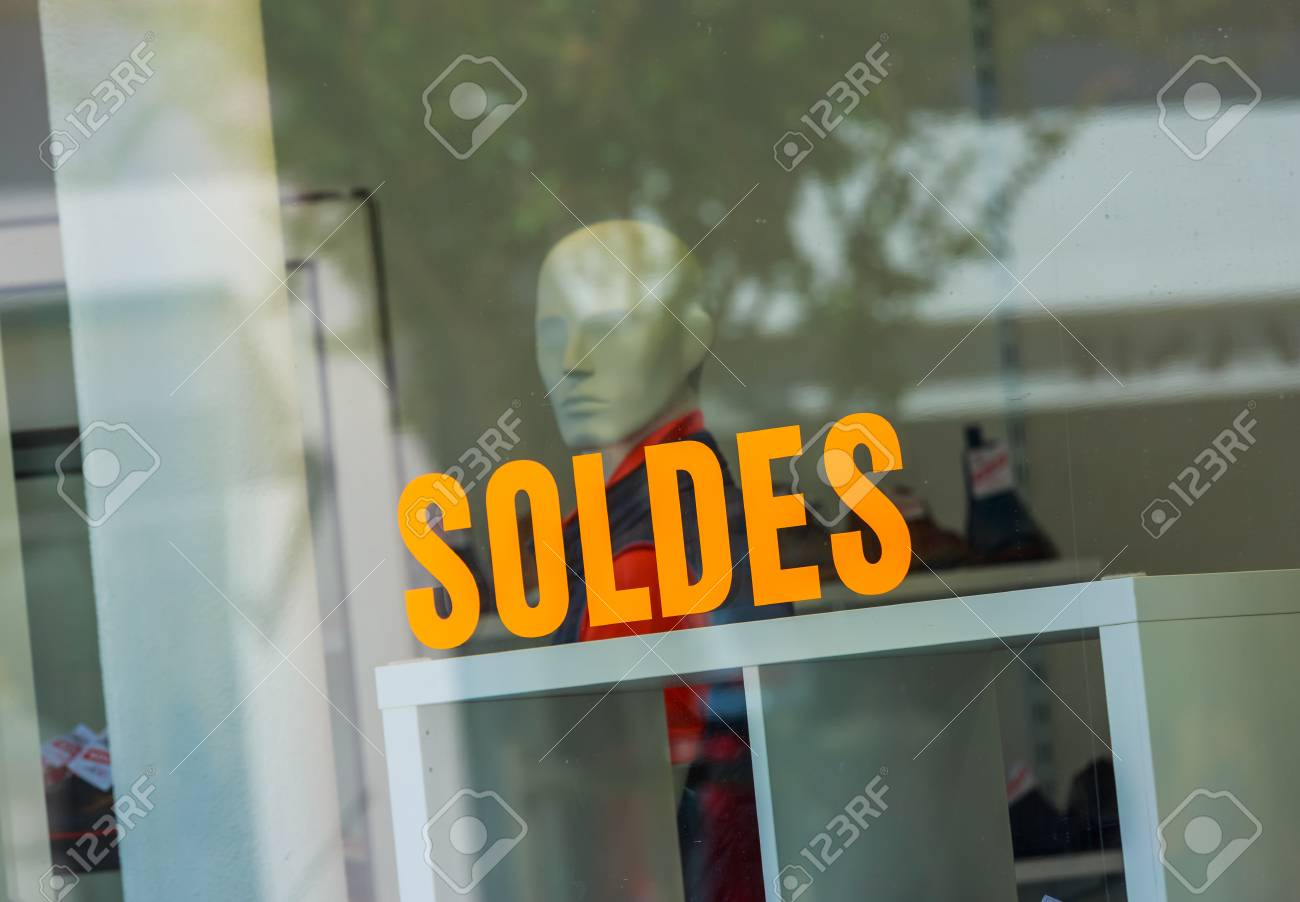 https www 123rf com photo 96000146 closeup on word sales soldes in french on the window of a store html