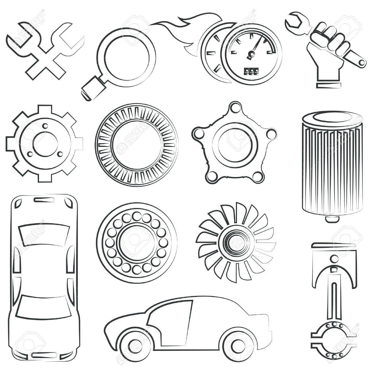 Delighted drawings of car parts pictures inspiration electrical