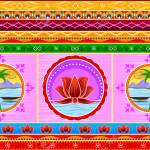Floral Kitsch Background In Indian Truck Art Style Royalty Free Cliparts Vectors And Stock Illustration Image 80568190