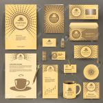 Beige Branding Design For Coffee Shop Coffee House Cafe Restaurant Royalty Free Cliparts Vectors And Stock Illustration Image 56862340