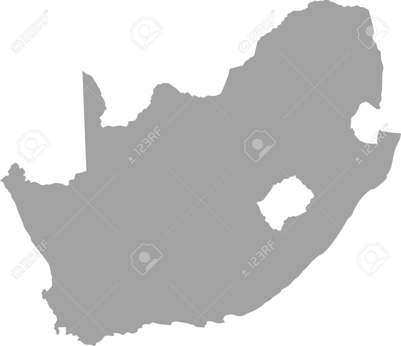 South Africa Map Outline In Gray Color Royalty Free Cliparts     South Africa map outline in gray color Stock Vector   50920430