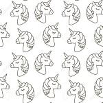 Unicorn Vector Seamless Pattern Horse Head Sleep Black And Stock Photo Picture And Royalty Free Image Image 79783431