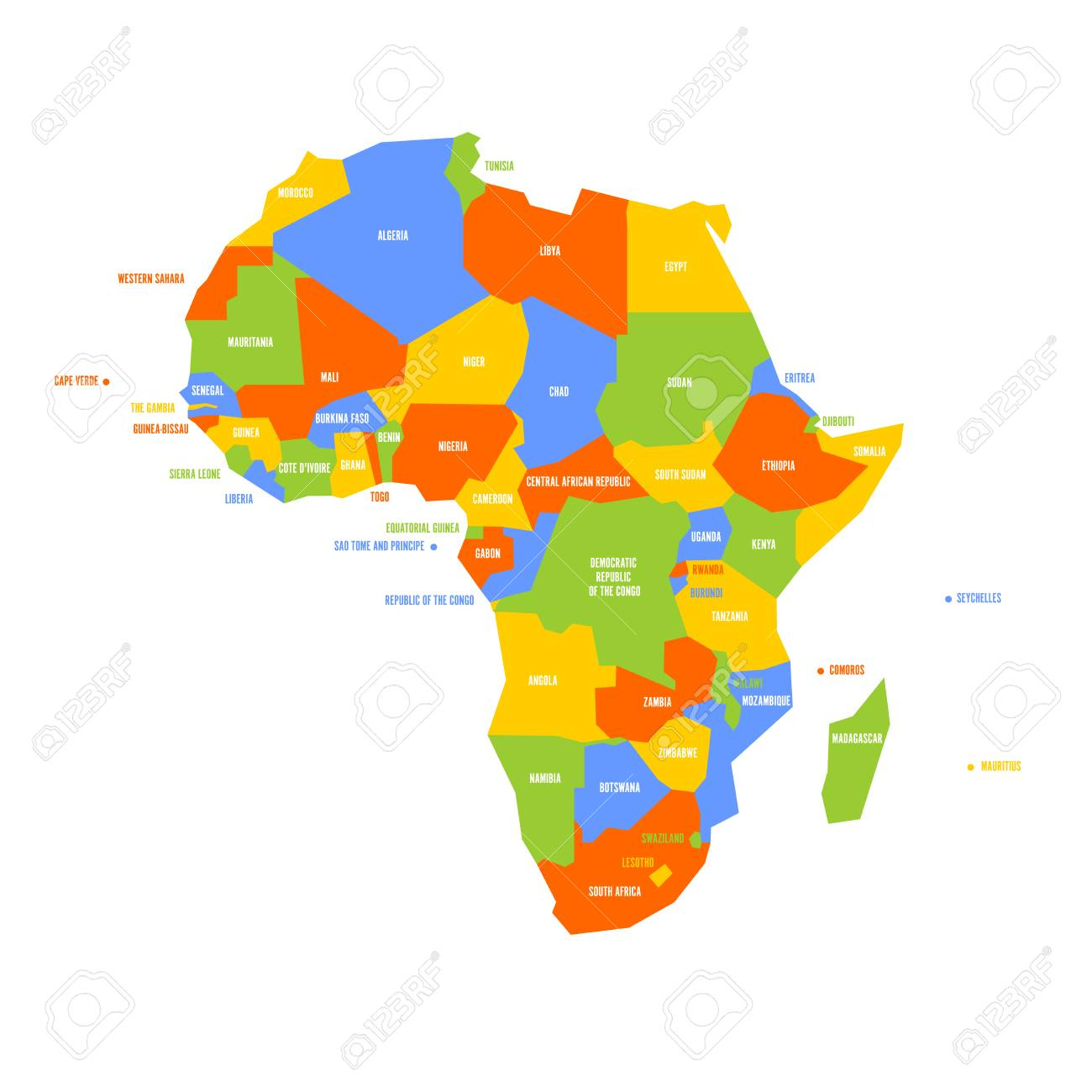 Very Simplified Infographical Political Map Of Africa Simple Royalty Free Cliparts Vectors And Stock Illustration Image 96613247
