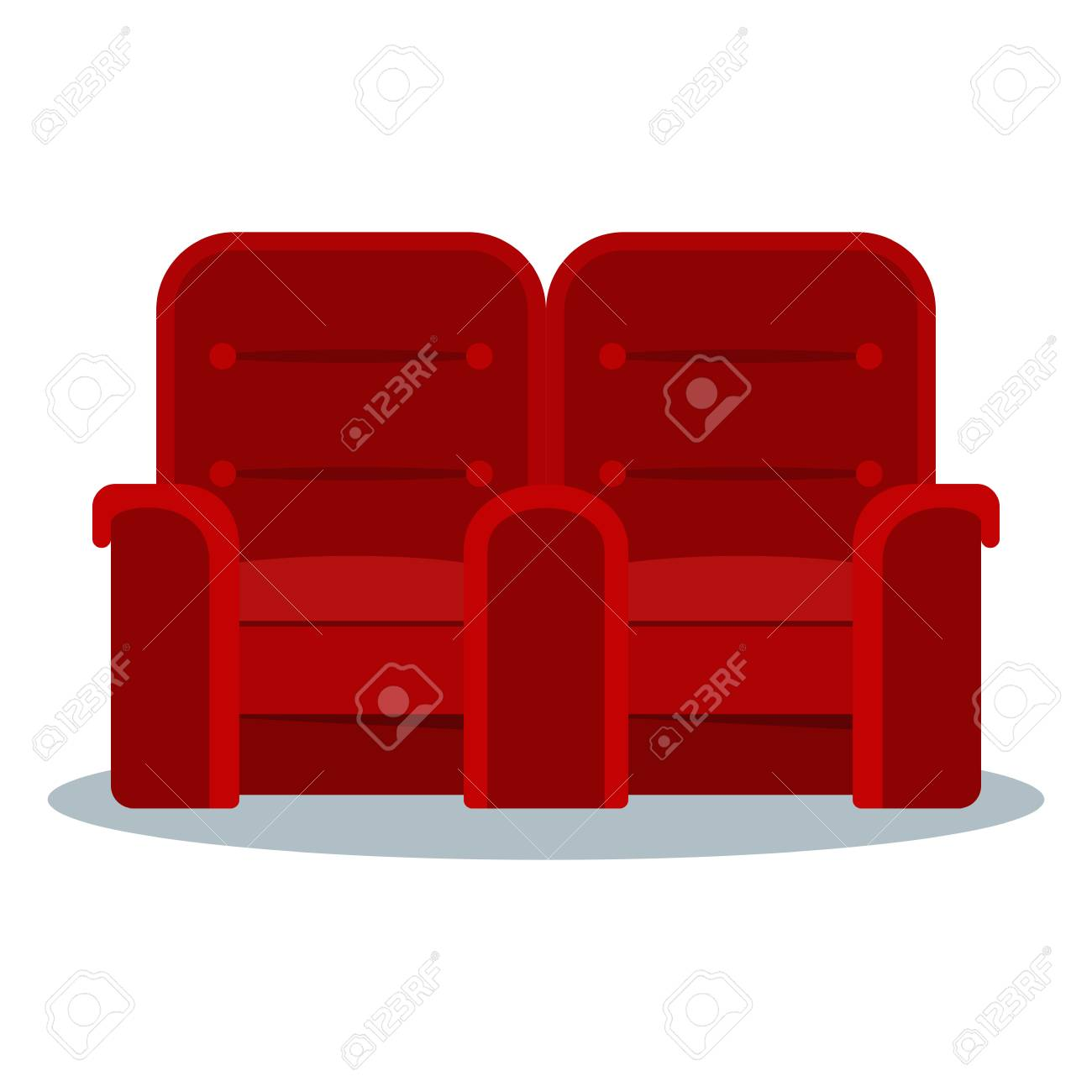 Auditorium And Seats In A Movie Theater Flat Vector Cartoon Royalty Free Cliparts Vectors And Stock Illustration Image 95994045