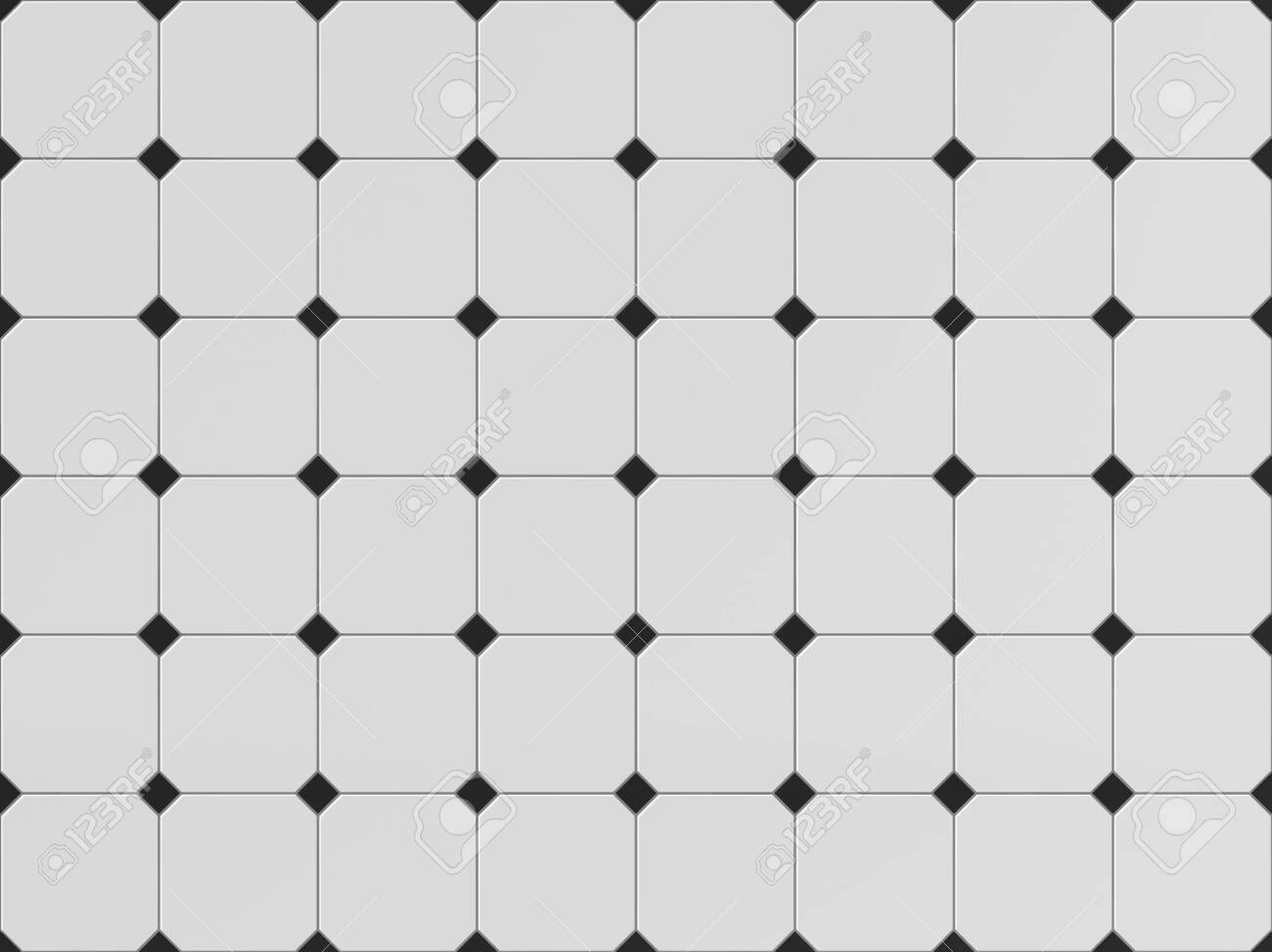white and black square seamless tile texture