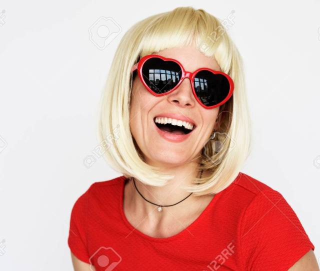 People Person Having Fun Wigs Stock Photo