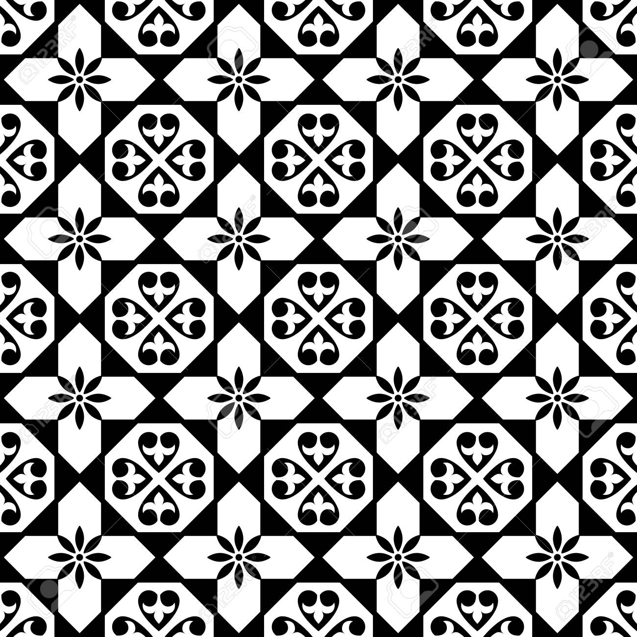 spanish tiles pattern moroccan and portuguese tile seamless