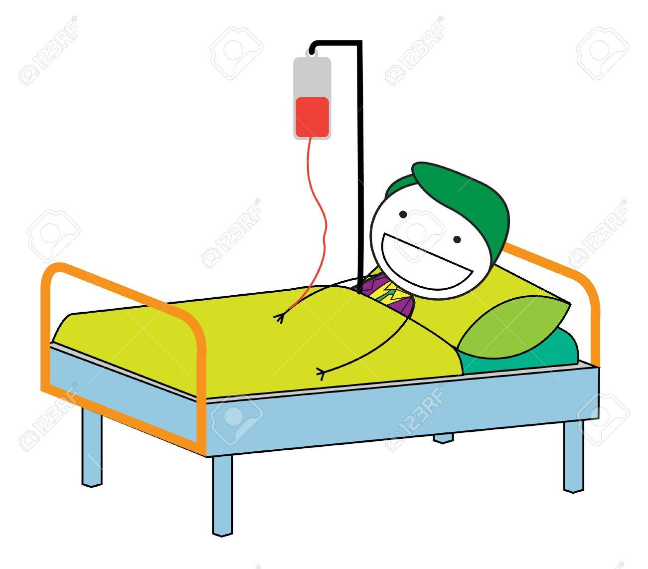 Hospital Bed Cartoon Images Stock Pictures Royalty Free