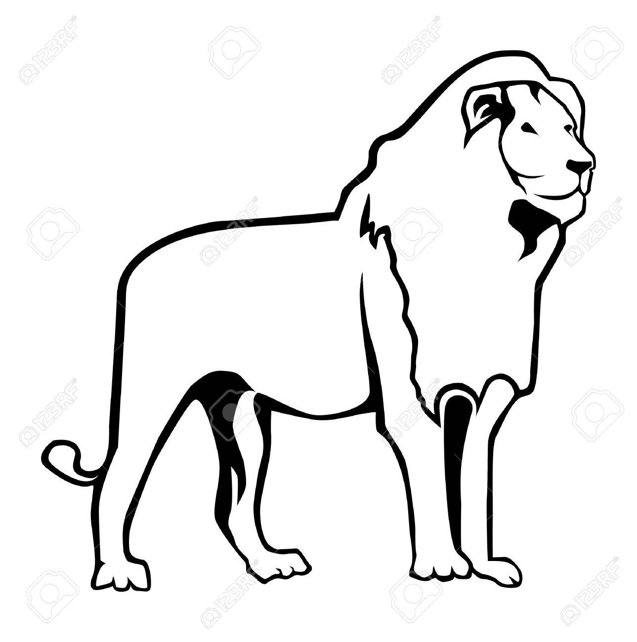 Lion Outline Royalty Free Cliparts Vectors And Stock Illustration Image 37363451