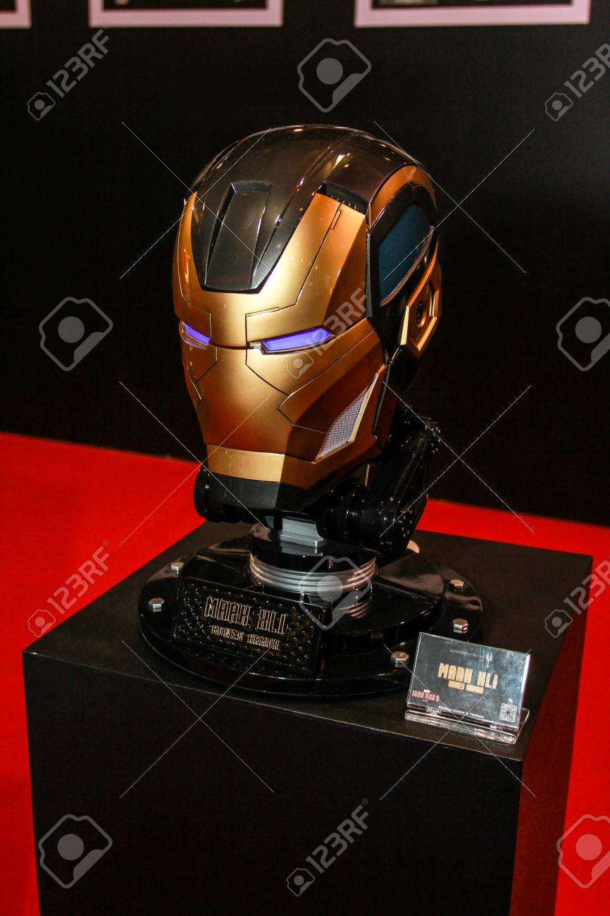 Bangkok May 2 An Iron Man Mask Model In Thailand Comic Con Stock Photo Picture And Royalty Free Image Image 39676146