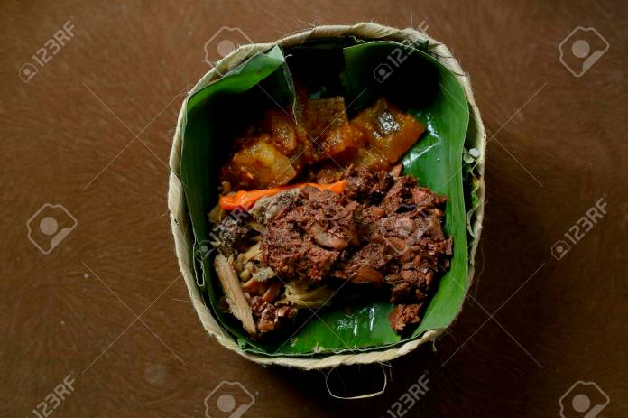 Gudeg Besek Traditional Food From Yogyakarta Indonesia Side Stock Photo Picture And Royalty Free Image Image 128566521