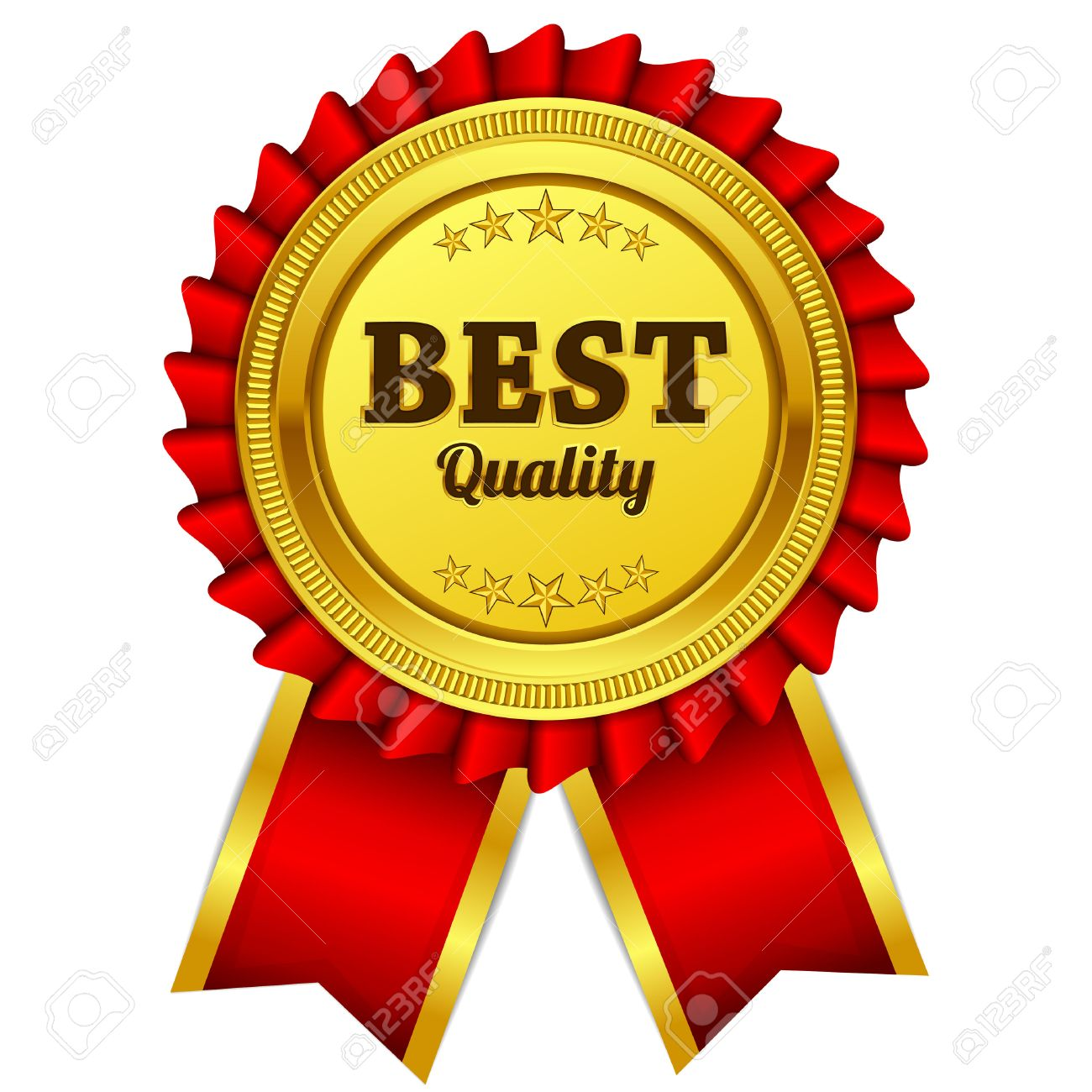 Best Quality Red Seal Label Icon Stock Vector 51291357