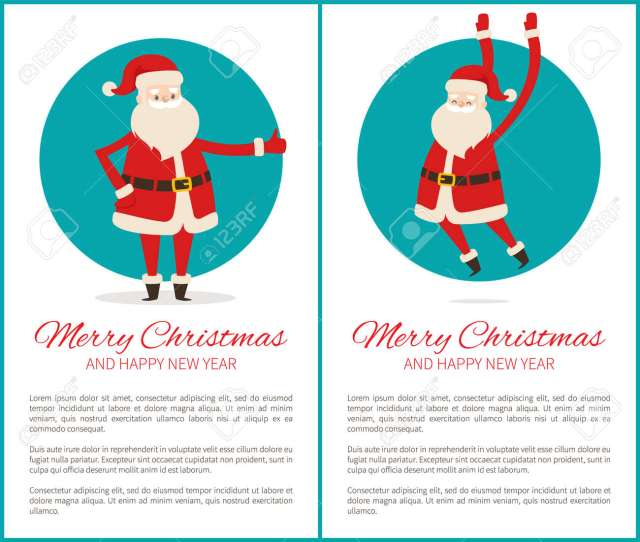 Banque Dimages Merry Christmas And Happy New Year Banners
