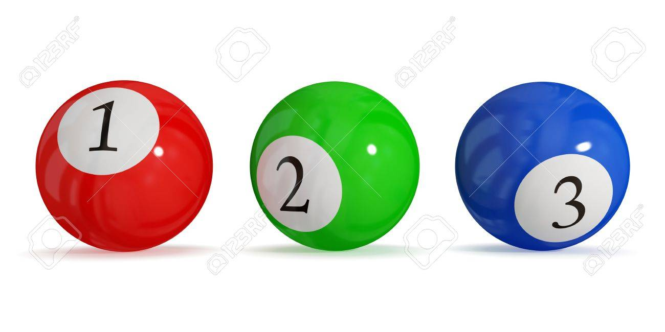 billiard balls. leadership concept. isolated on white background