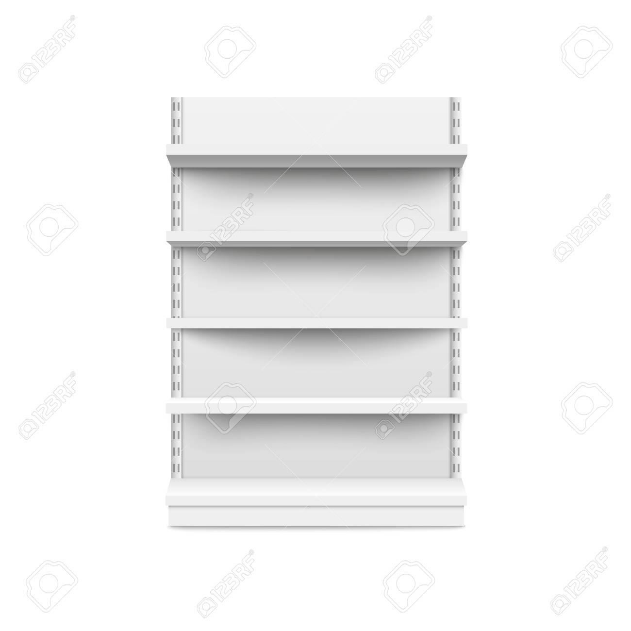 See bookshelf mockup stock video clips. Empty Retail Booth Stand Wide Mockup Isolated On White Background Supermarket Product Advertising Blank And Pos Display Mockup Front View Vector Illustration Royalty Free Cliparts Vectors And Stock Illustration Image 122280699