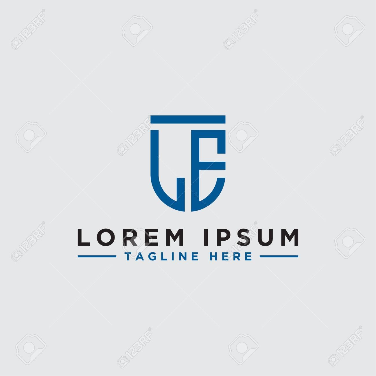 letter le initial icon monogram vector inspiration logo design