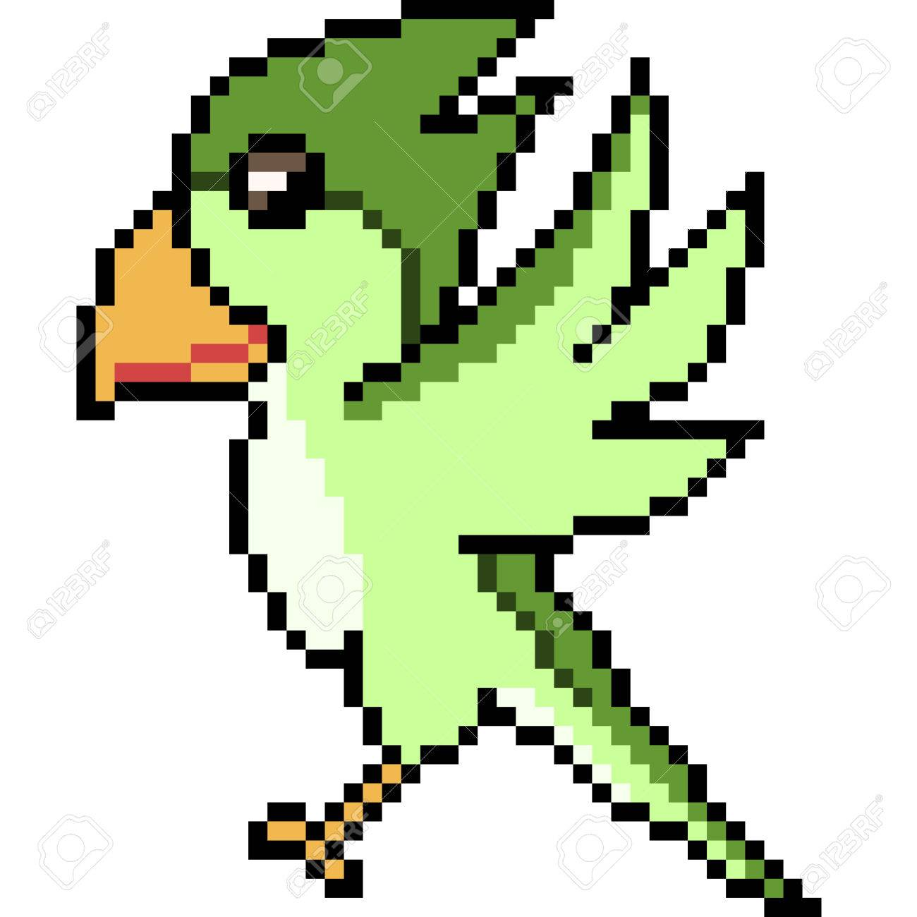 Vector Pixel Art Bird Royalty Free Cliparts Vectors And Stock Illustration Image 74280065