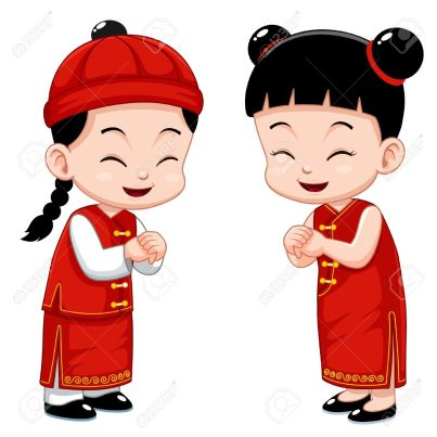 This is an animation of Chinese people