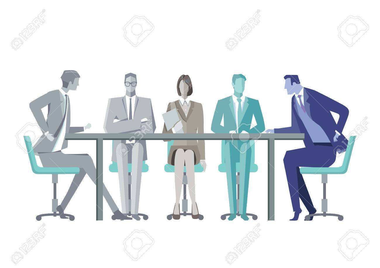 un groupe de gens d affaires autour d une table de conference