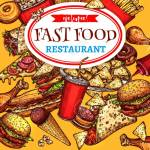 Vector Fast Food Restaurant Poster Royalty Free Cliparts Vectors And Stock Illustration Image 79574748