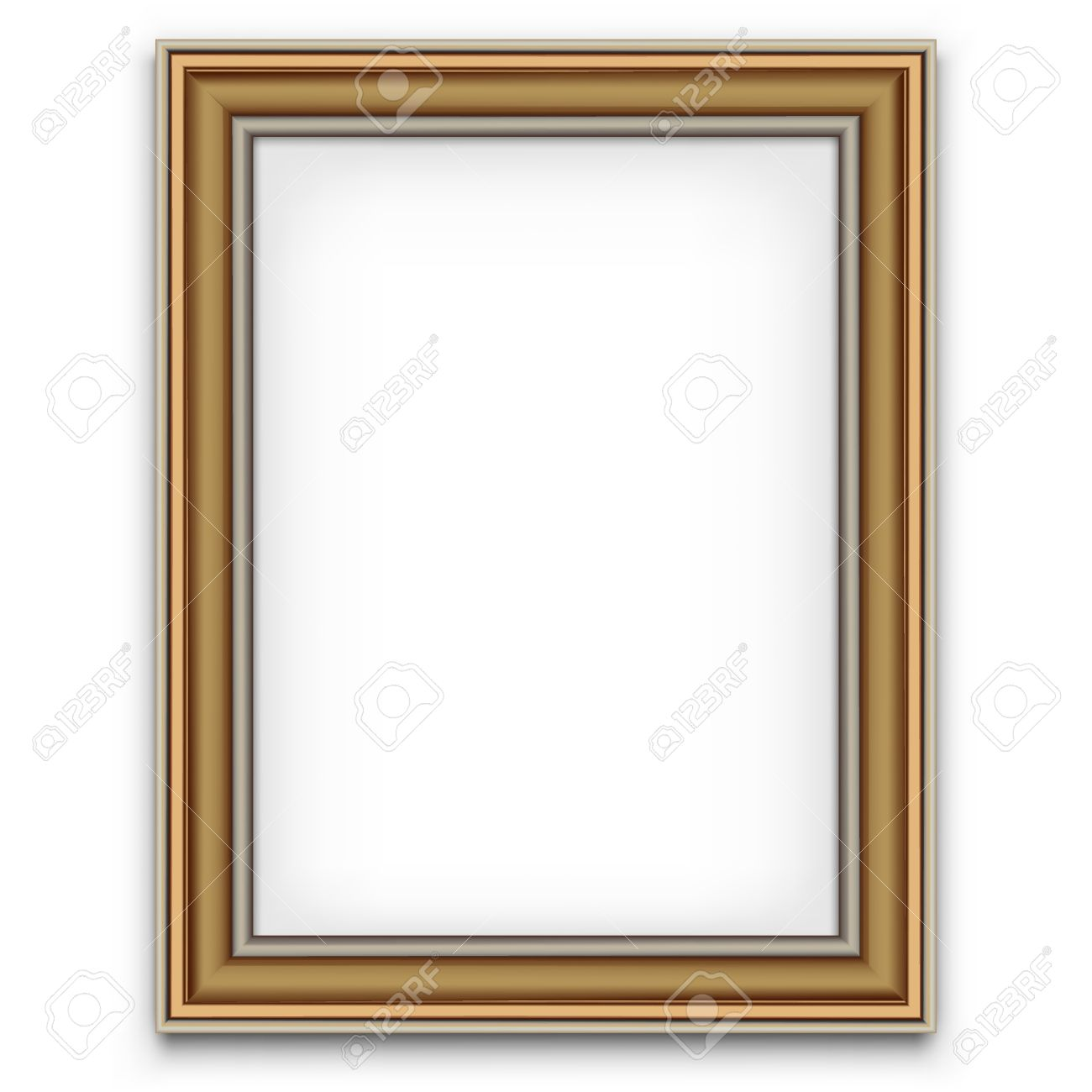 Blank Picture Frame Vector Decoration Element Photo Template