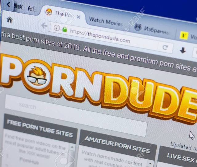 Ryazan Russia May 13 2018 Theporndude Website On The Display Of Pc