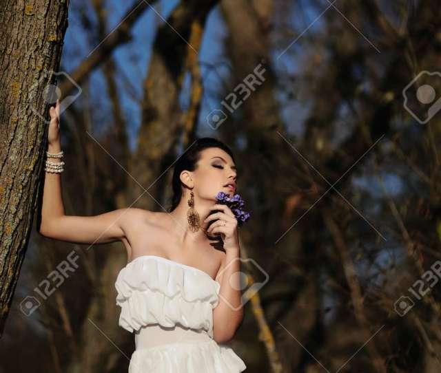 Spring Sexy Babe Stock Photo 38266406