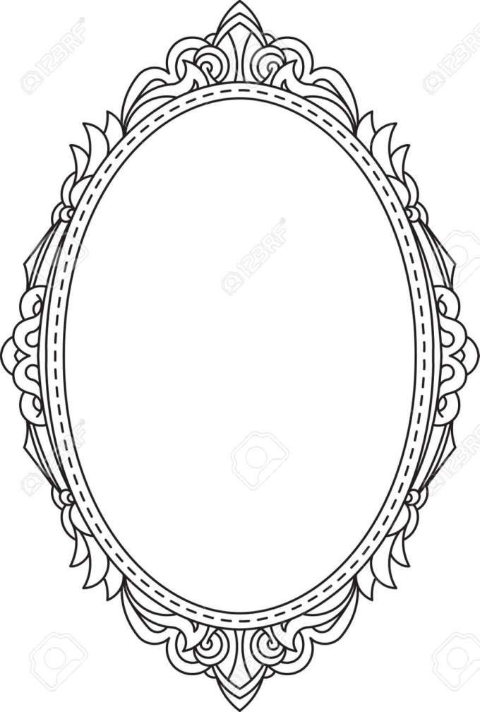 Oval Picture Frame Template Vector | Frameviewjdi.org