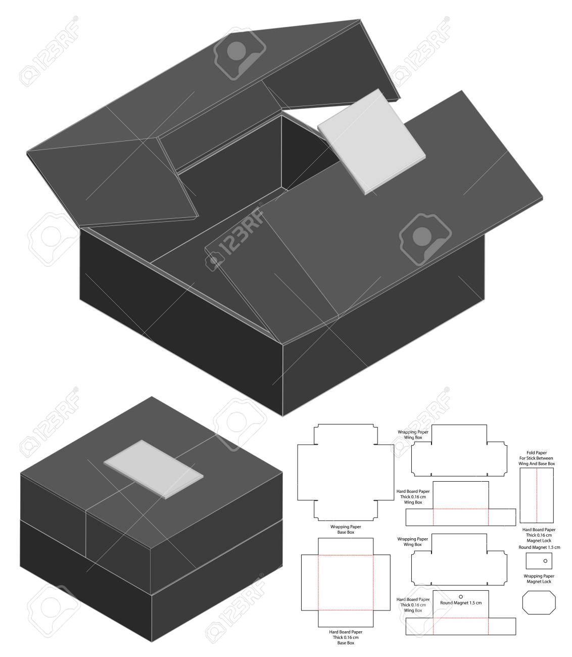 Set of white and transparent plastic bags. Box Packaging Die Cut Template Design 3d Mock Up Royalty Free Cliparts Vectors And Stock Illustration Image 126095185