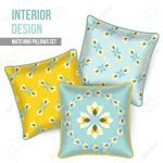 Set Of Three Matching Decorative Pillows For Interior Design Royalty Free Cliparts Vectors And Stock Illustration Image 39218769