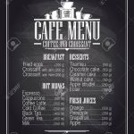 Chalkboard Cafe Menu List Design With Dishes Name Retro Style Royalty Free Cliparts Vectors And Stock Illustration Image 37187603