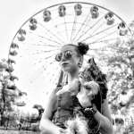 Young Beautiful Woman In Sun Glasses With Yorkshire Terrier Near Stock Photo Picture And Royalty Free Image Image 62668305